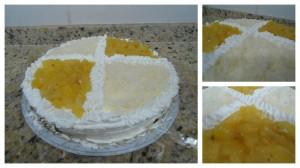 torta de abacaxi com côco
